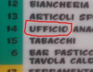 Parola Realia: UFFICIO
